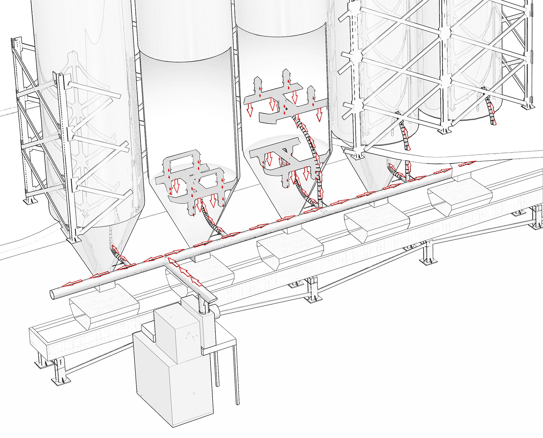 Hot-Rocks Aggregate Heating System